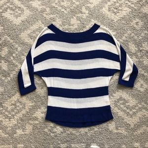 New York and company striped sweater large
